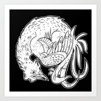 Rooster Print Art Print