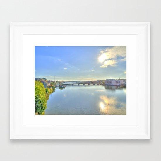 View of New Ross Bridge, Co. Wexford Framed Art Print