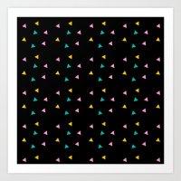 Zazzy Triangles Art Print