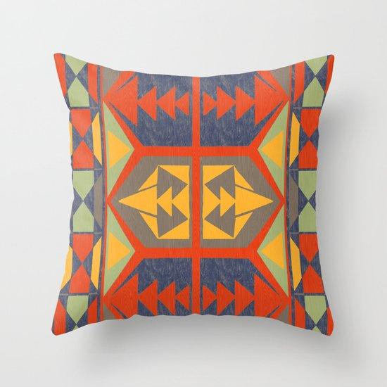 Going Native Throw Pillow