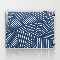 Abstraction Linear Zoom Navy Laptop & iPad Skin