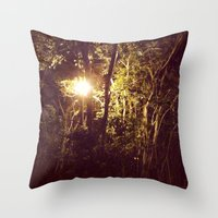 Lurking in the night Throw Pillow