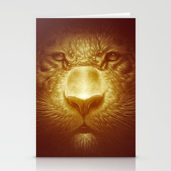 Gold Tiger Stationery Card