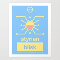 Art Print featuring styrian blisk single hop by committee on opprobriations