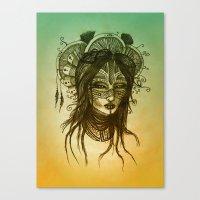 WITCH Color Canvas Print