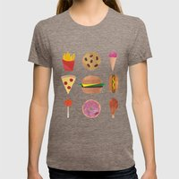 Junk Food Womens Fitted Tee Tri-Coffee SMALL