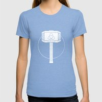 THOR! Womens Fitted Tee Tri-Blue SMALL