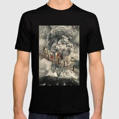 the eruption... SMALL Black Mens Fitted Tee