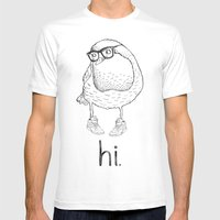 Hi. Mens Fitted Tee White SMALL