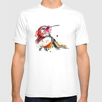 Crimson Hummer Mens Fitted Tee White SMALL
