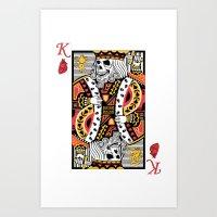 Horror Skeleton King Pla… Art Print