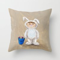 I'm A Rabbit - But I Wan… Throw Pillow