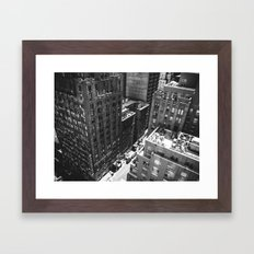 Vertigo, NYC.  Framed Art Print