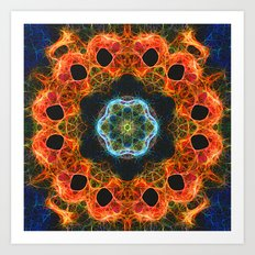 Fiery barnacles kaleidoscope 2 Art Print