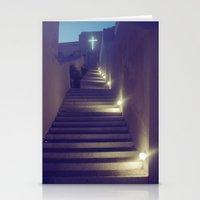 Greek Church At Dusk Stationery Cards