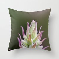 Prickley Pastels Throw Pillow