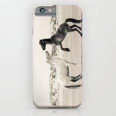 Wild Horses 4 - Black and White iPhone 6s Slim Case