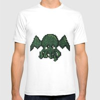 Tiny Cthulhu Mens Fitted Tee White SMALL