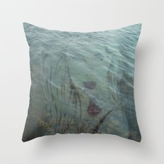 Lake Lady // Double Exposed Throw Pillow