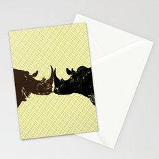 Bull Rhinos Stationery Cards