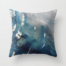 Deep Blue Waves Throw Pillow