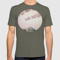 Washington DC Cherry Blossoms Mens Fitted Tee Lieutenant SMALL