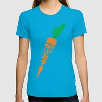 What's Up Doc? Womens Fitted Tee Teal SMALL