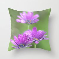 Comos Flowers Throw Pillow