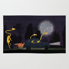Voyage by night II (animal party) Rug