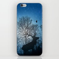 Deer In The Snow  iPhone & iPod Skin