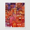 China Town Canvas Print