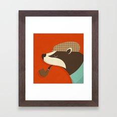 Country Badger Framed Art Print