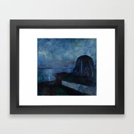 Framed Art Print featuring Starry Night By Edvard M… by Palazzo Art Gallery