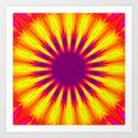 Sunrise Color Burst Flower Art Print