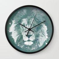 Lion's Mark Wall Clock
