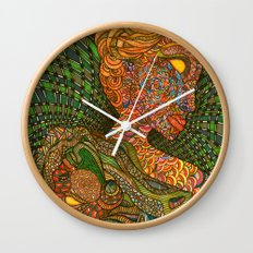 Scarlet & Equine Wall Clock