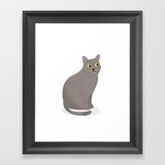 Moo the Cat Framed Art Print