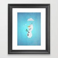 Olaf (Frozen) Framed Art Print