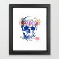Halloween Skull Framed Art Print