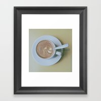 It's Always Coffee Time Framed Art Print