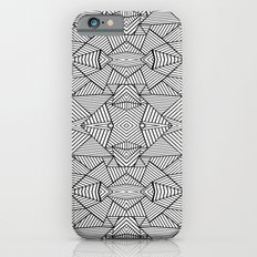 Abstract Mirror Black on White Slim Case iPhone 6s