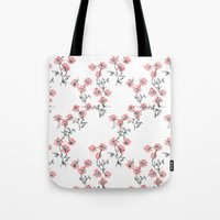 X Flowers Tote Bag