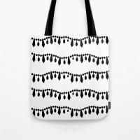Vintage Beads Black On W… Tote Bag