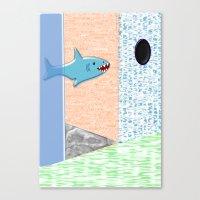 Sharkey Canvas Print