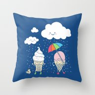 Cloudy With A Chance Of … Throw Pillow