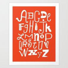 Abecedario Art Print