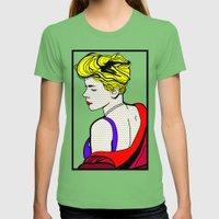 Robyn - Roy Lichtenstein Inspired Portrait 2 Womens Fitted Tee Grass SMALL