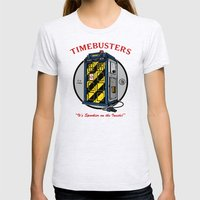 Timebusters Womens Fitted Tee Ash Grey SMALL