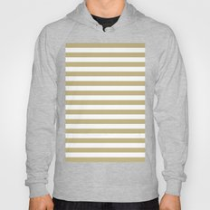 Horizontal Stripes (Sand/White) Hoody