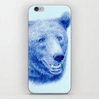 Brown bear is blue iPhone & iPod Skin